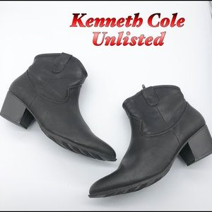 Kenneth Cole Unlisted Black Western Bootie 10